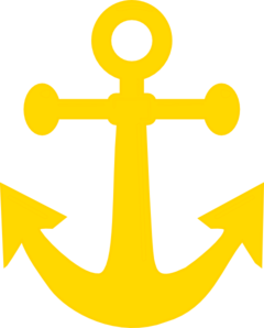 image black and white Dark yellow anchor clip. Vector anchors art