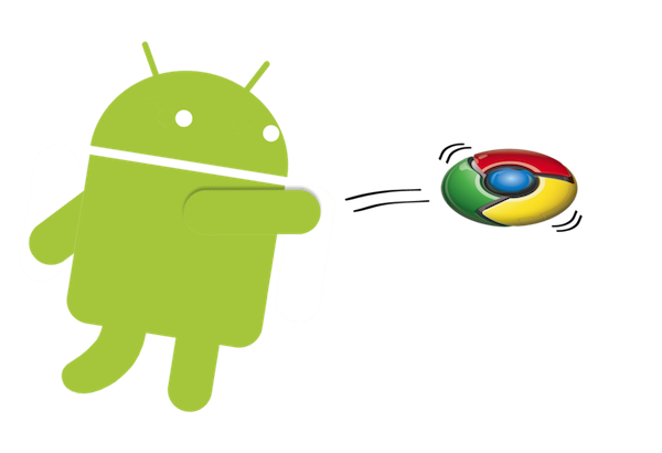 clipart black and white library Google could be rolling Chrome OS into Android
