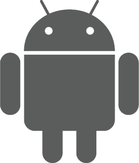 clip black and white library Android logo PNG