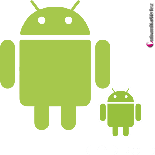 black and white library Android Logos