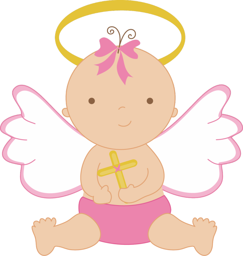 vector black and white download Baby Angel Clipart
