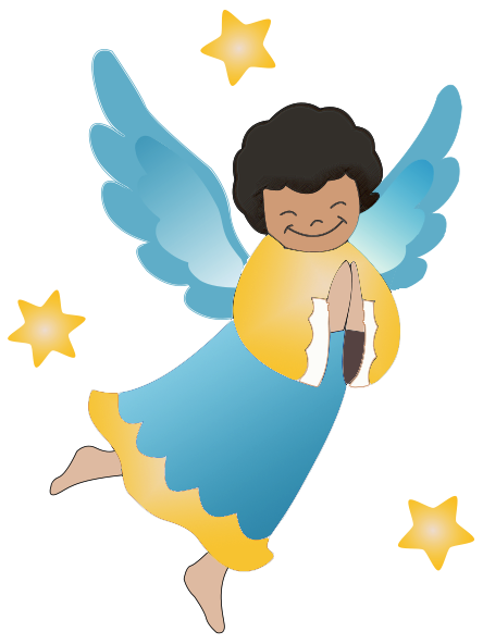 picture black and white Angel Clipart