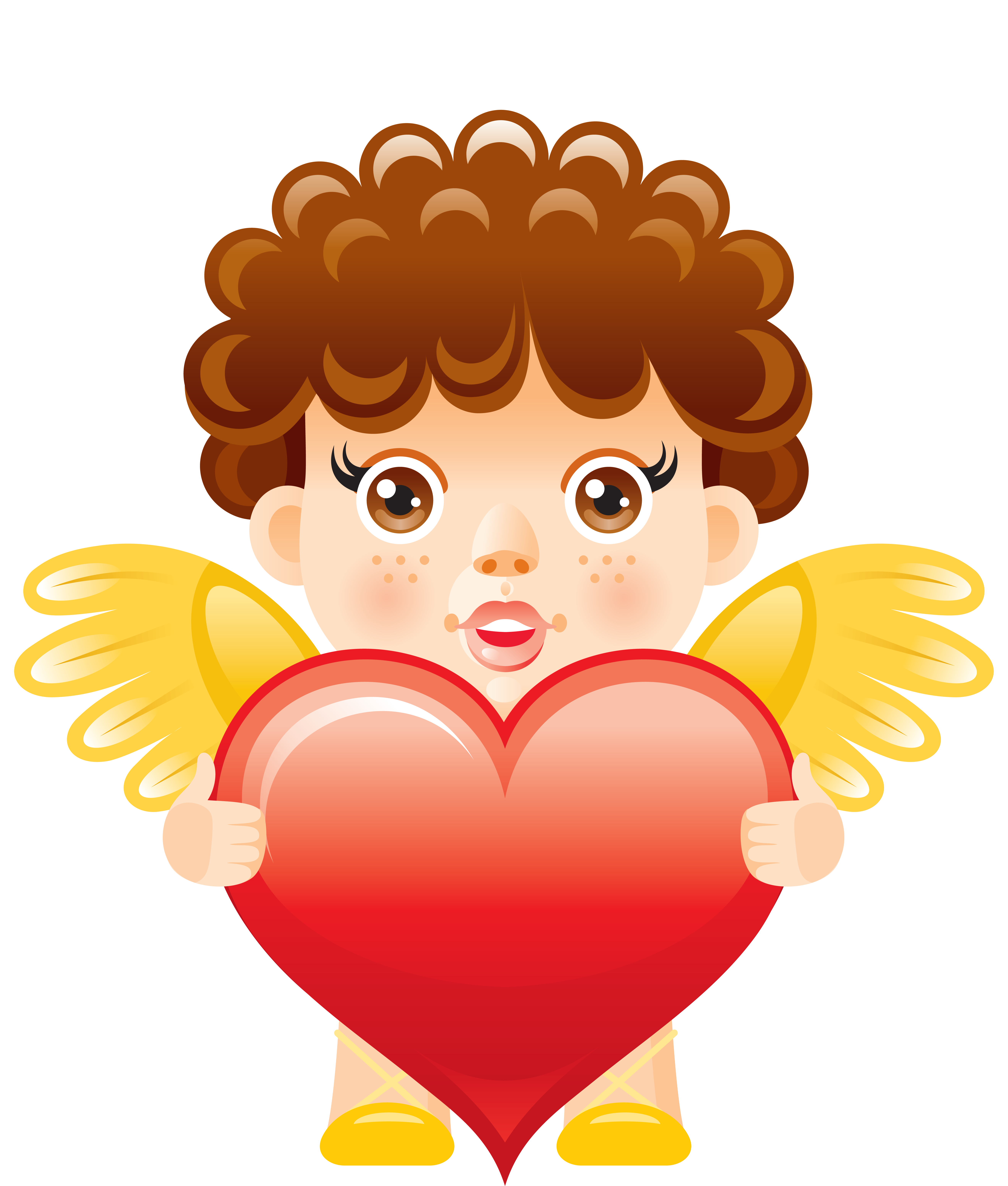 vector black and white download Angel clipart heart. With free png picture.