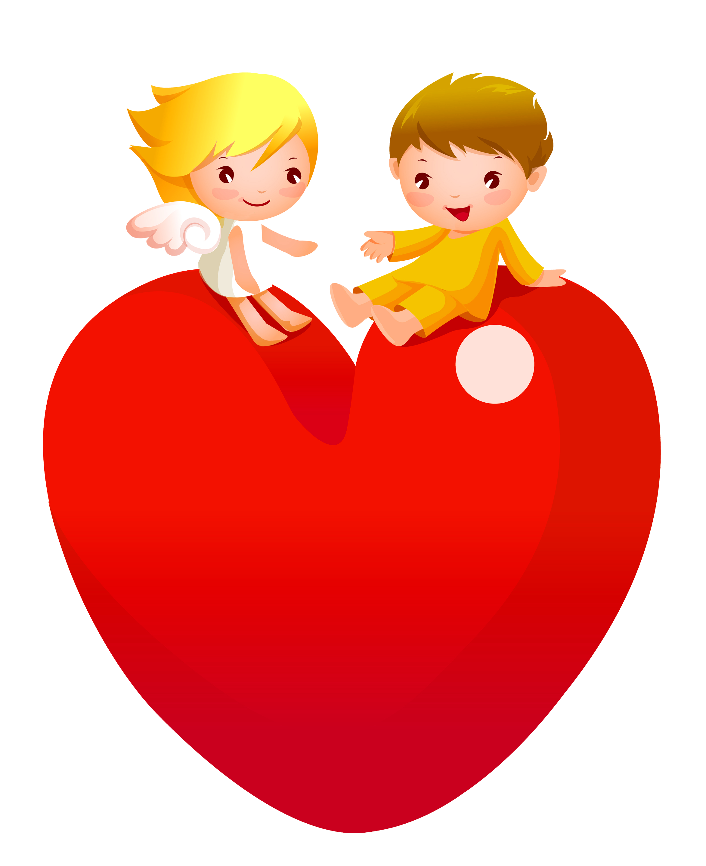 image black and white Angel clipart heart. Red with angels png.