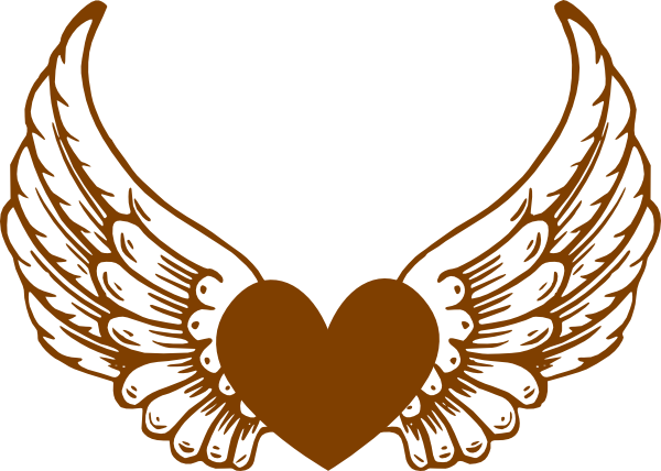 freeuse library Bronzeheartwings clip art at. Angel clipart heart.