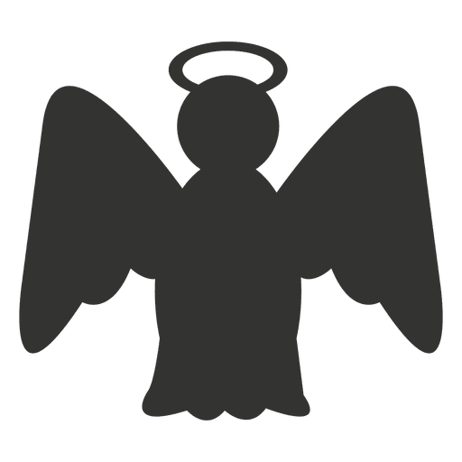 jpg royalty free library Vector angel silhouette. Icon transparent png svg