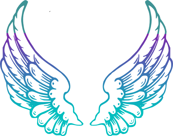 clipart royalty free stock Angels clipart. Purple guardian angel wings