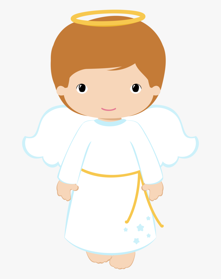 clip black and white download Angels clipart. Boy angel and girl