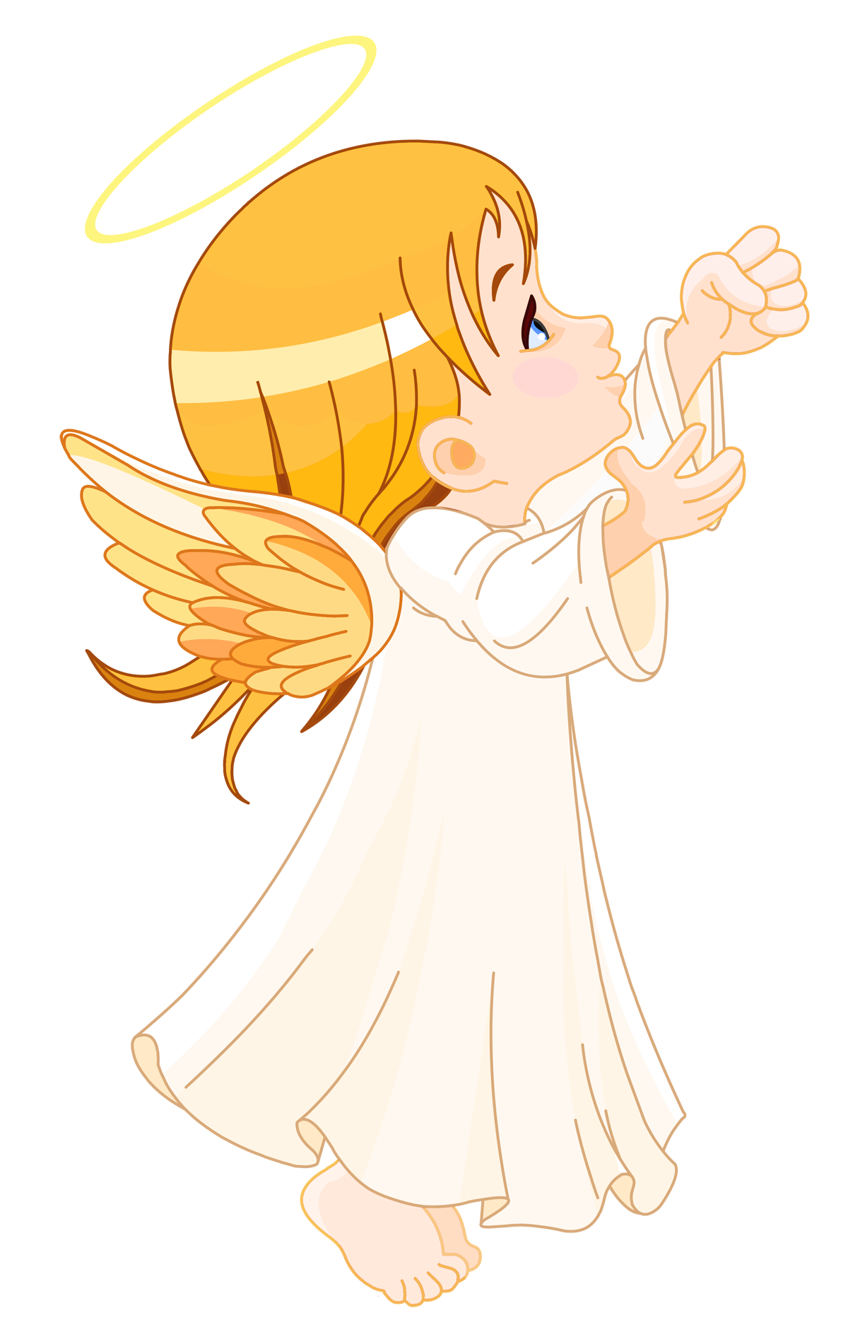 picture library library Cute little angel large. Angels clipart
