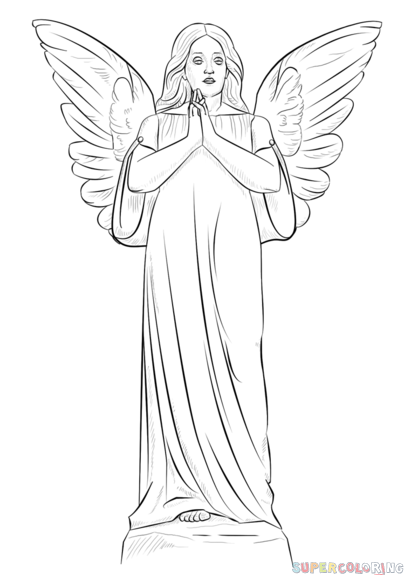 svg library library Archangel drawing standing. How to draw an