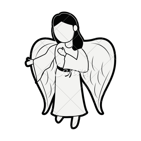clip art download Cartoon Angel Drawing at GetDrawings
