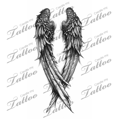 svg transparent stock Wings custom tattoo createmytattoo. Drawing sad fallen angel