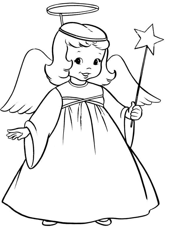 clipart royalty free stock Angels Line Drawing at GetDrawings