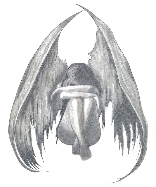image free stock Drawing Angel Pencil Sadness Sketch