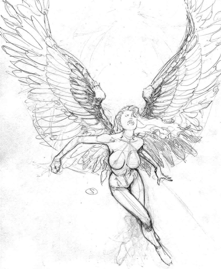 clip art freeuse Sketch at paintingvalley com. Drawing s angel