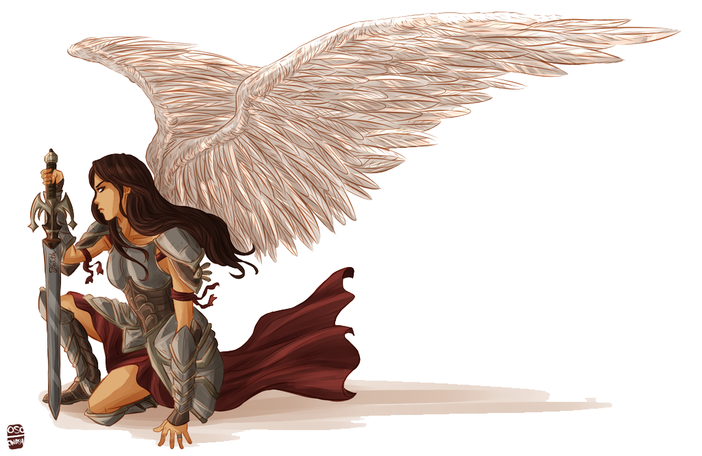 svg free angels drawing warrior #88986741