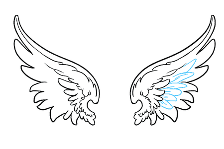 svg freeuse stock Wings png k pictures. Vector angel side