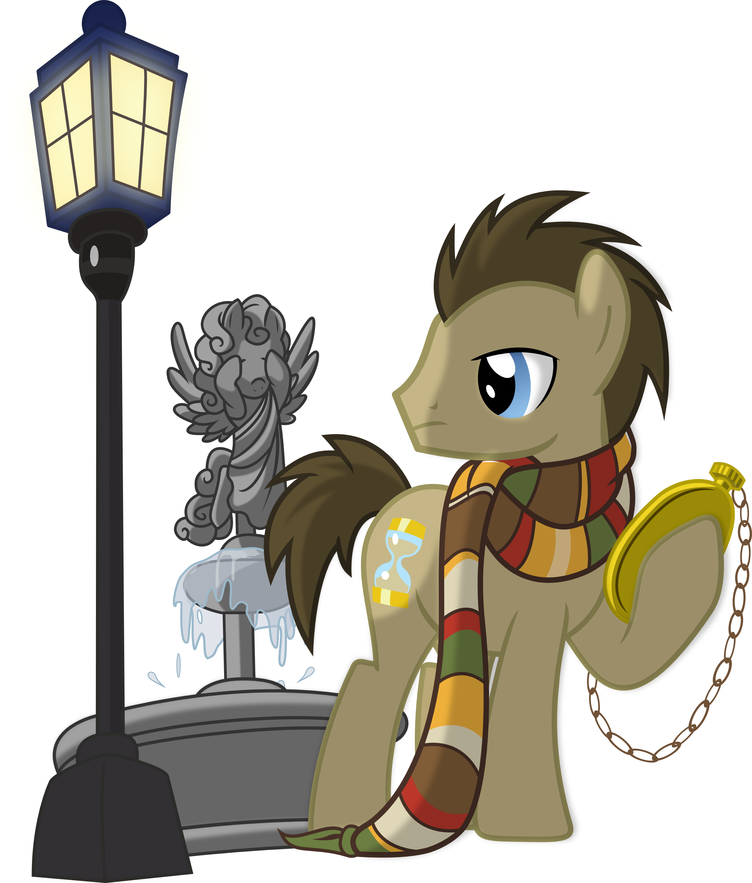 graphic royalty free Hooves and weeping angel. Vector doctor wallpaper