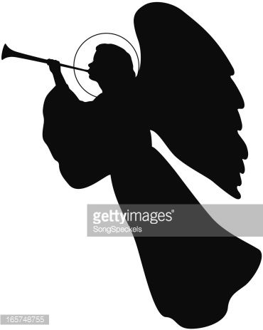 jpg free download With trumpet wire angels. Vector angel horn