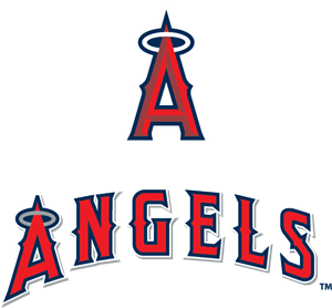banner black and white library Vector angel logo. Los angeles angels of