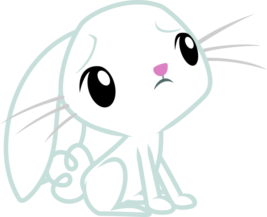 banner free Cute Worried Angel Bunny by Yetioner on DeviantArt