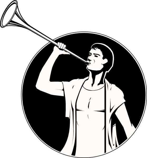 image royalty free download  with trumpet png. Vector angel horn