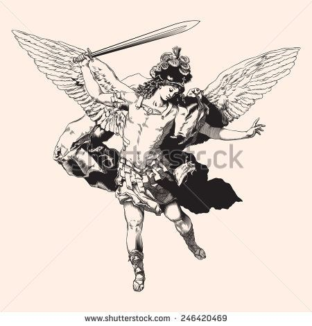 royalty free Vector angel archangel. Michael illustration st