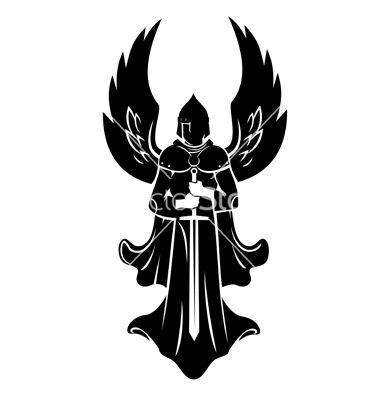 banner library download Warrior targets in . Vector angel archangel