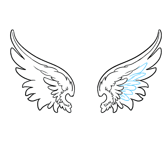 graphic free download Drawing something wing. Of angel wings tier