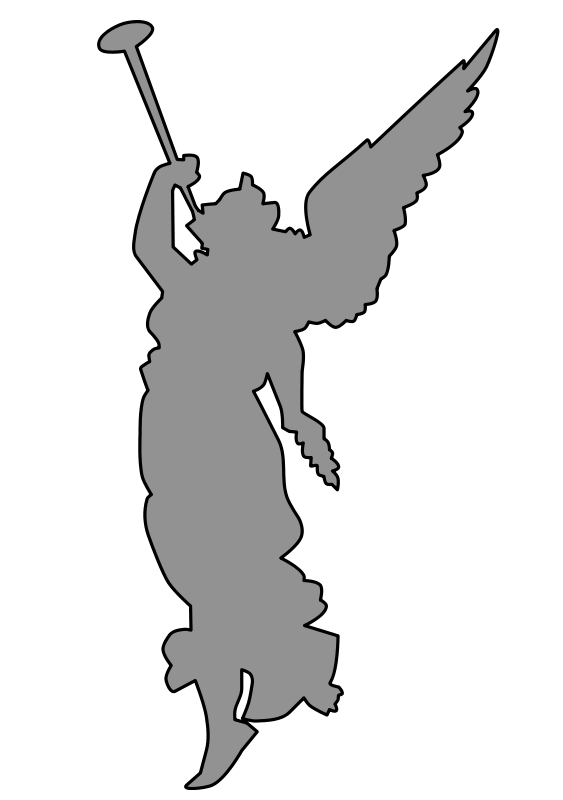 vector free angel playing trumpet Clipart