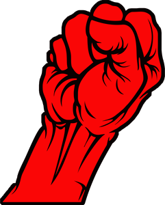 banner freeuse library Anger clipart angry fist. Woman metallica st logo.