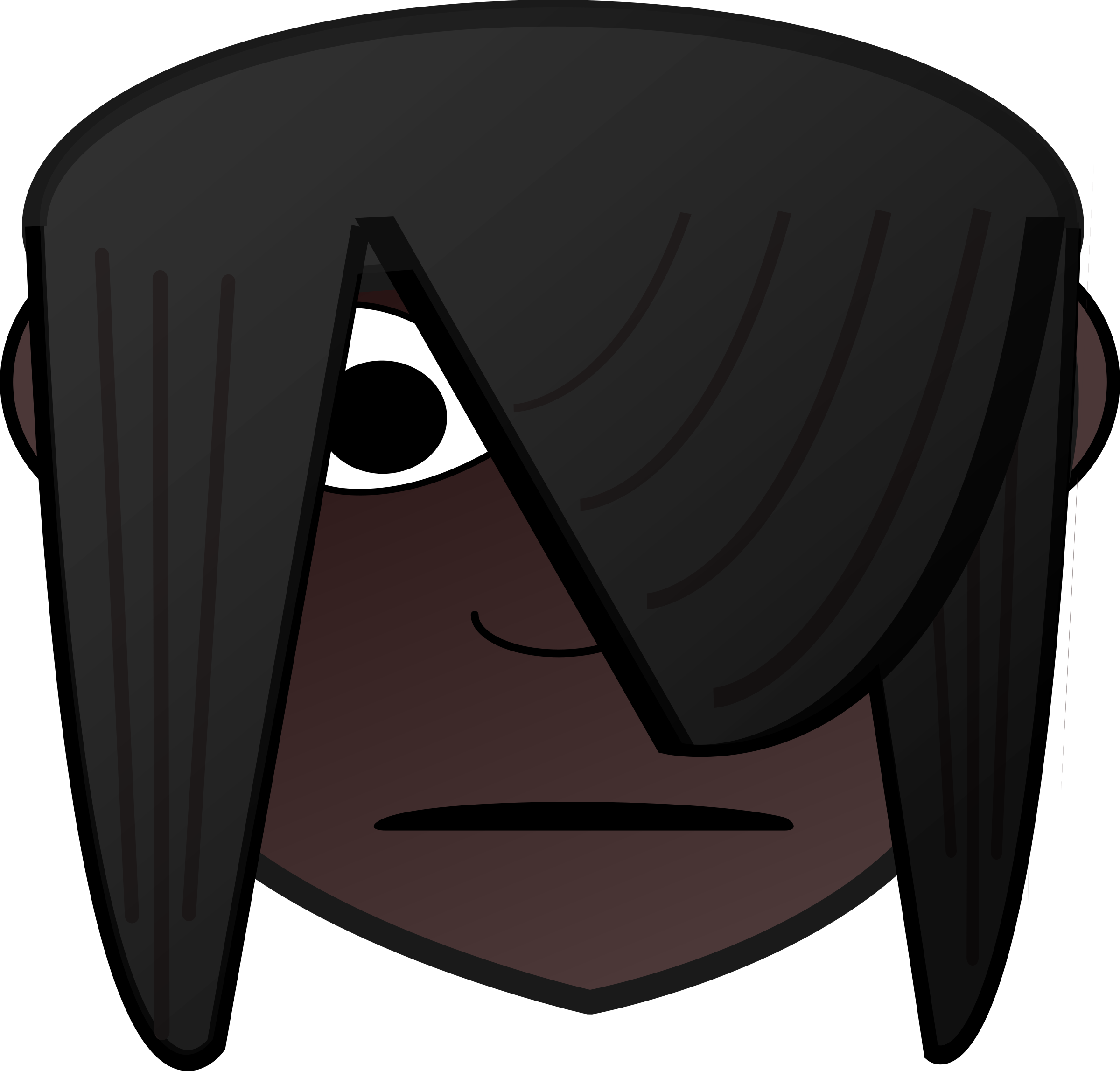 graphic library Emo transparent dark. Girl clipart at getdrawings