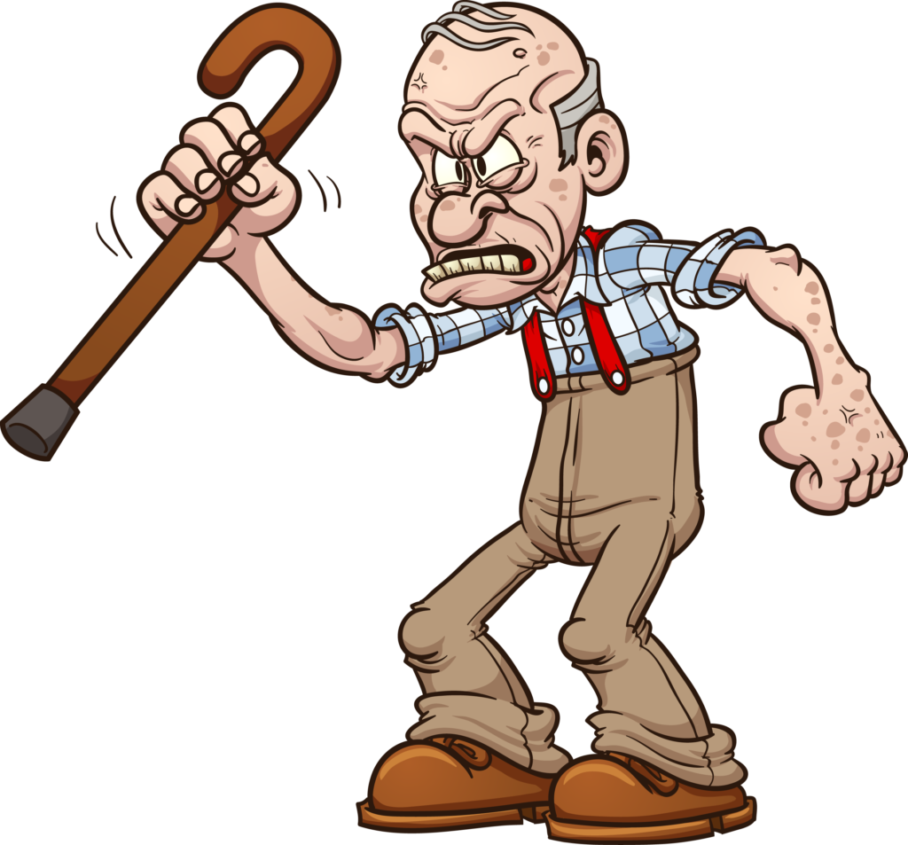 svg black and white library Grumpy Old Man PNG Transparent Grumpy Old Man