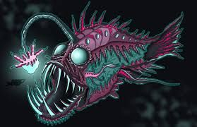picture freeuse library Image result for trippy angler fish