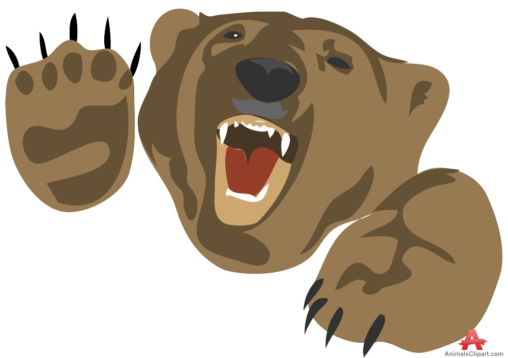 banner library stock Station . Angry bear clipart