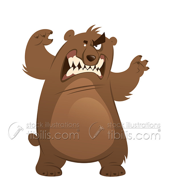 jpg freeuse Station . Angry bear clipart