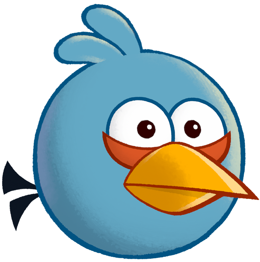 clip Tweety drawing angry bird. Image toons assets blue