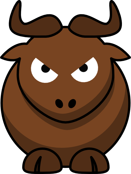 svg transparent library Angry Bull Clip Art at Clker