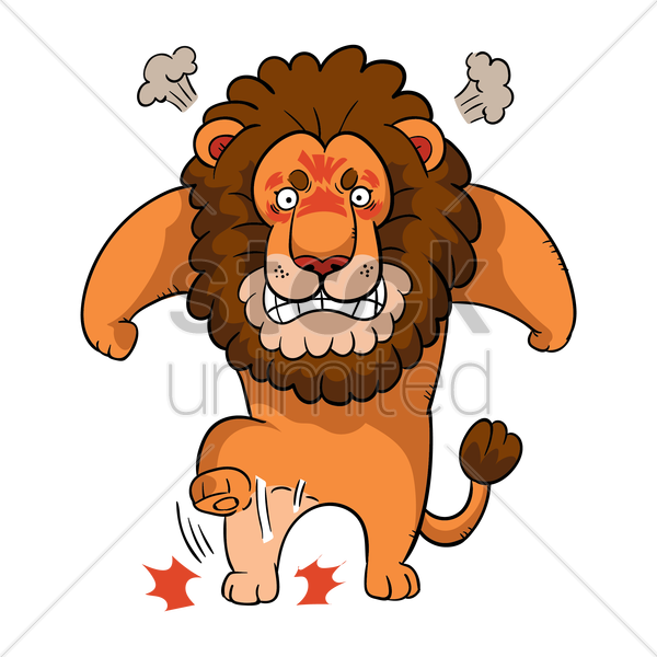 clip art black and white Lion frames illustrations hd. Angry clipart.