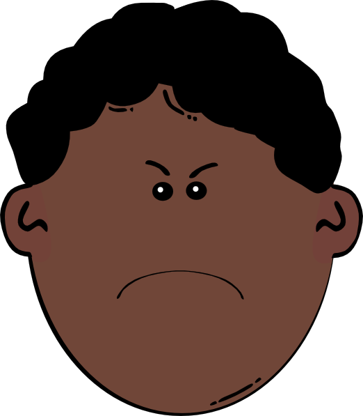 clip transparent library Frustrated kid clipart. Angry boy clip art