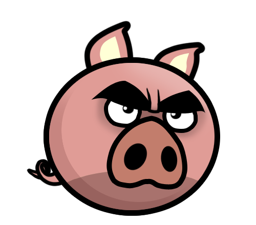 graphic free Angry Evil Pig Mascot