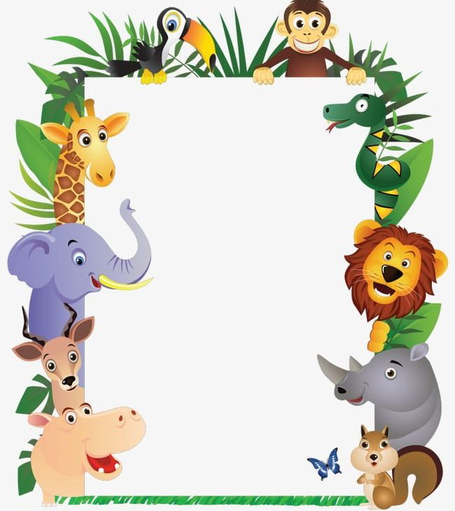 image transparent stock Animal border clipart. Png animals
