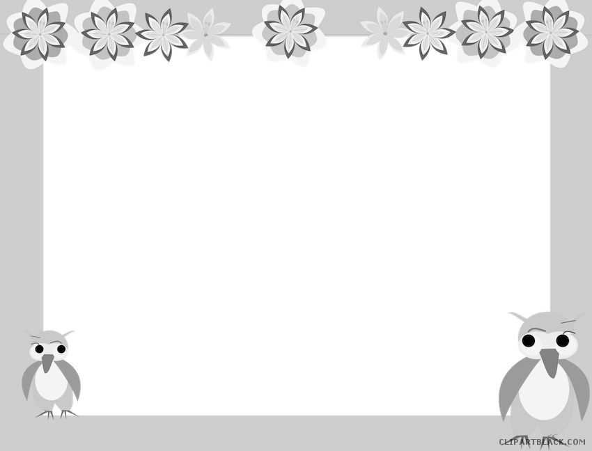 freeuse stock Animal border clipart. Owl clipartblack com free