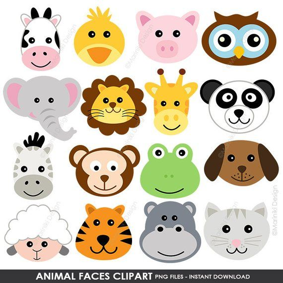 clip art transparent library Faces cute farm animals. Animal clipart