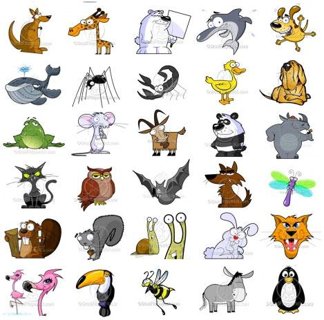 picture transparent stock Animal clipart free. Cartoon animals clip art