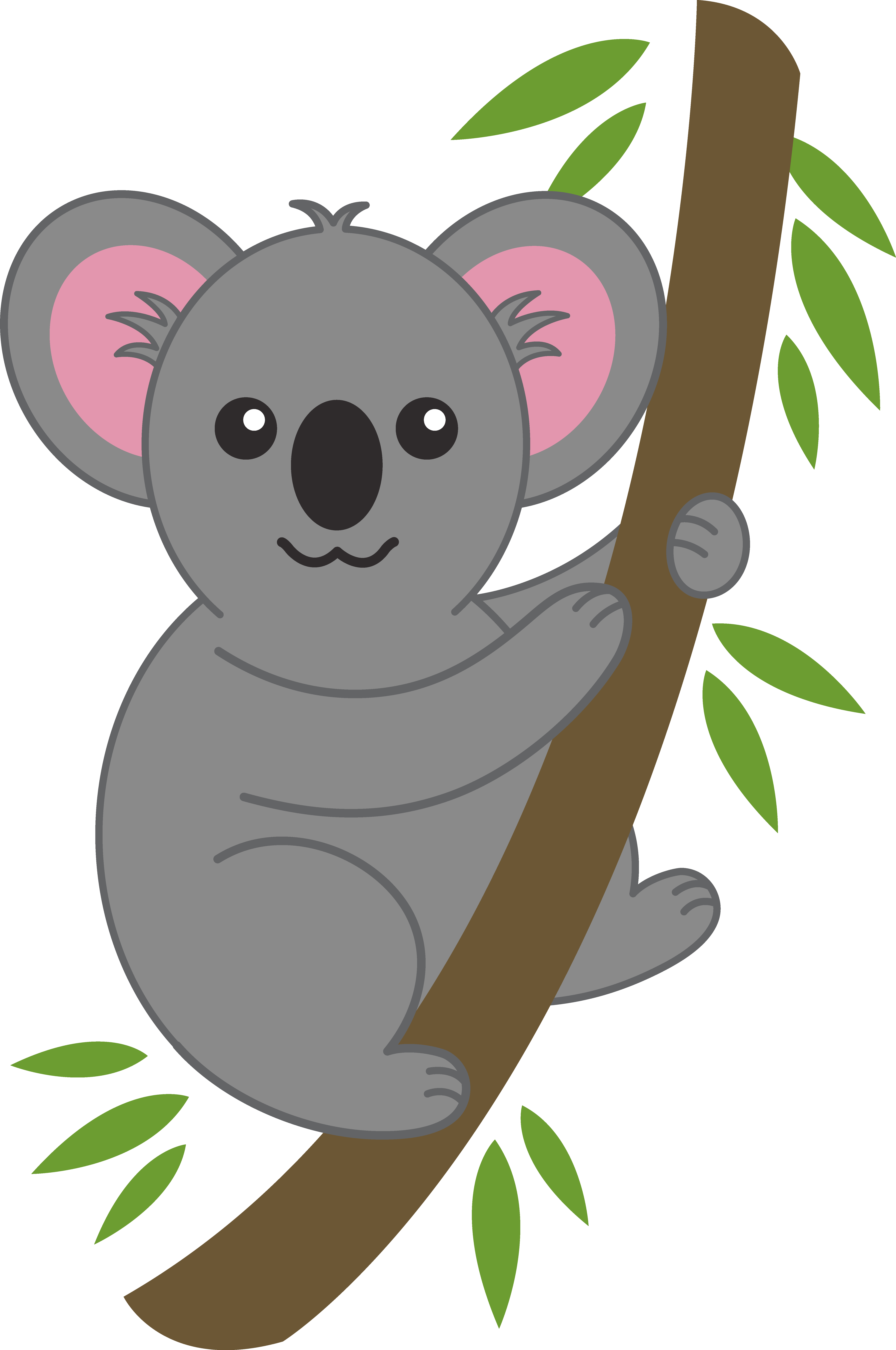 picture black and white library Koala clipart. Bear clip art cute