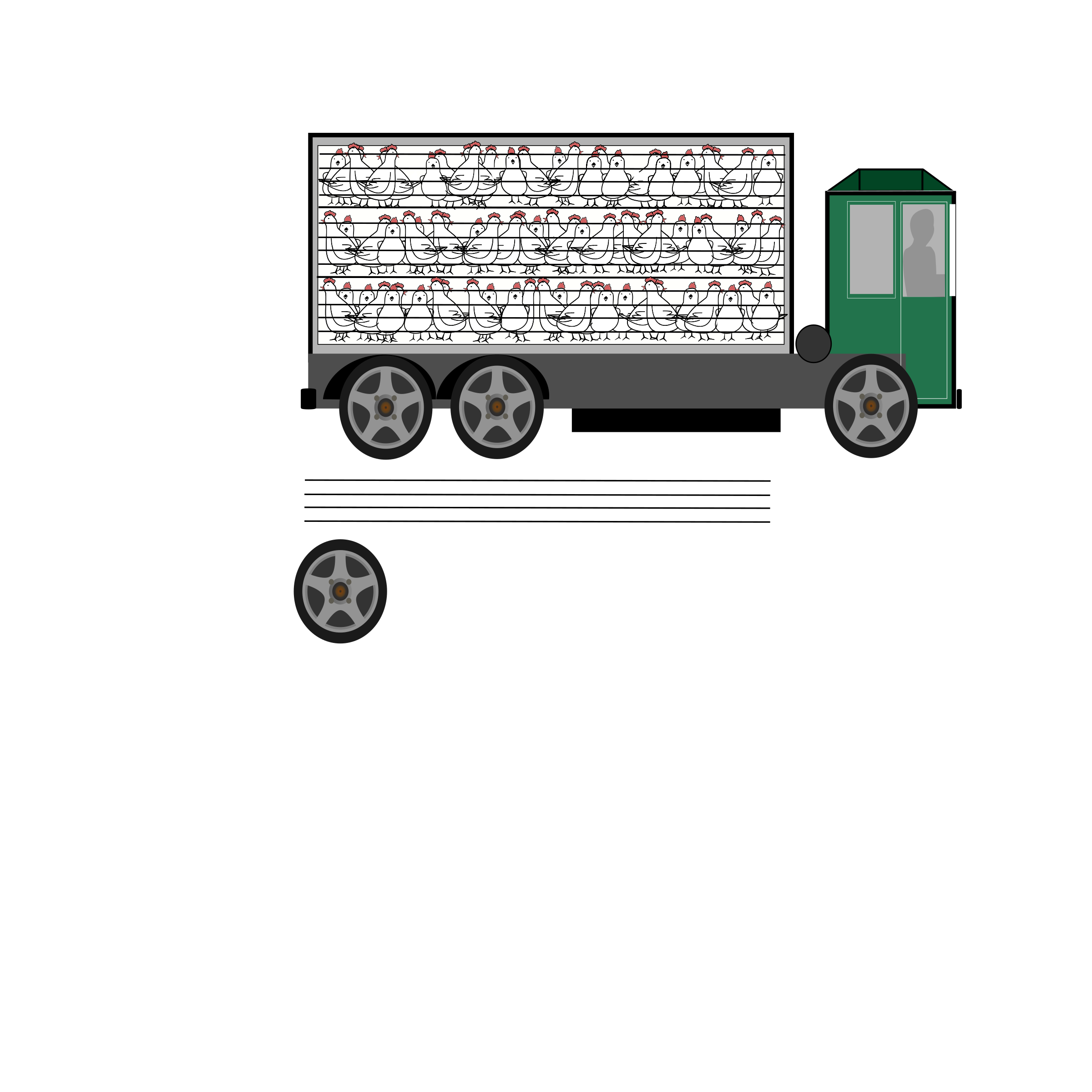 graphic stock Animal clipart transportation. Truck transport big image.