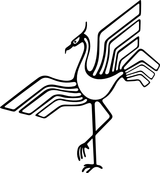 graphic Clip art at clker. Animal crane clipart