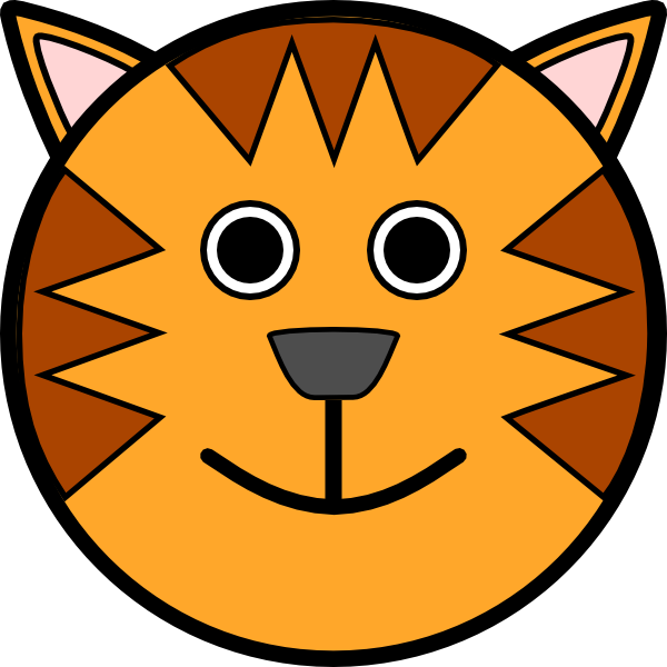 banner library download Tiger face clip art. Animal faces clipart