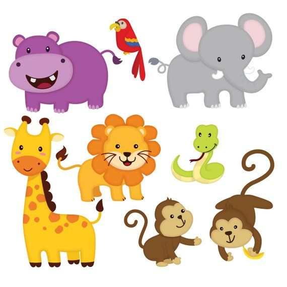 clipart free download Animal friends clipart. Jungle clip art sticker